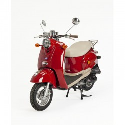 Scooter ROUGE RETRO-50cc-ZN50QT-A