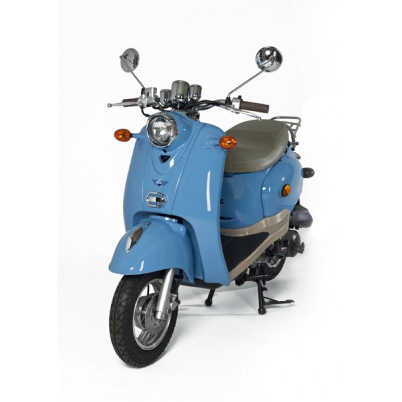 scooter bleu retro 50cc zn50qt a. Black Bedroom Furniture Sets. Home Design Ideas